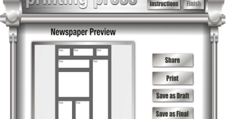 4 Web Tools To Create Newspapers and Flyers for Your Class