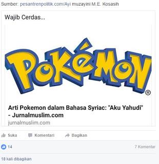 hoax pokemon go yahudi