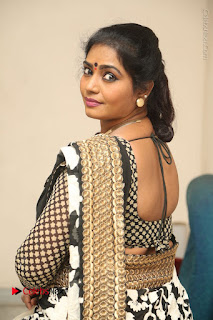 Telugu Actress Jayavani Jayavani Stills in Black Saree at Intlo Deyyam Nakem Bhayam Success Meet  0069.JPG