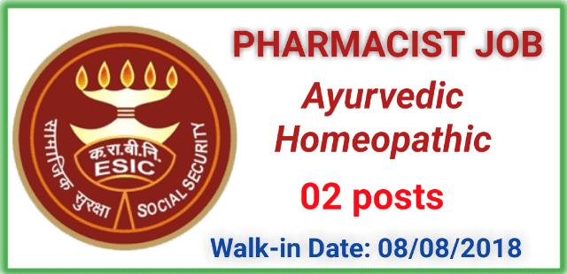 walk-in-for-ayurveda-homoeo-pharmacist-at-esic