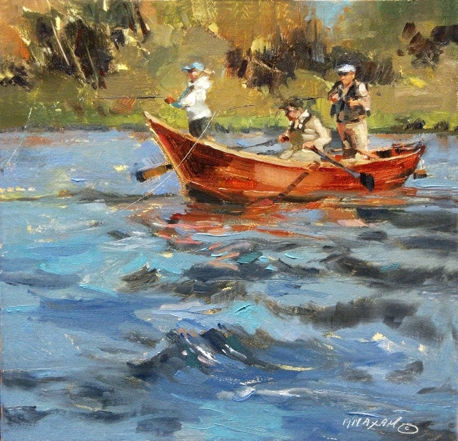 Mary maxam paintings drift underpainting demo and for Paintings of fish