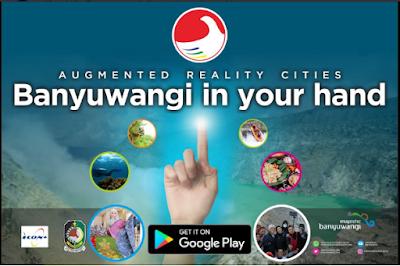 Jarak wisata banyuwangi, Banyuwangi in your hand aplikasi android, Banyuwangi in your hand promo banyuwangi, Aplikasi gratis Banyuwangi in your hand