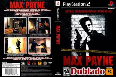 Jogo Max Payne 1 PS2 Dublado PT-BR DVD Capa