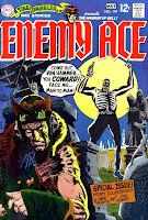 qStar Spangled War v1 #144 enemy ace dc comic book cover art by Joe Kubert