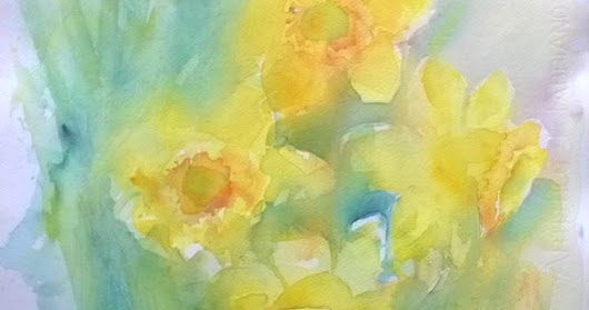 Spring flowers in watercolors - how to paint