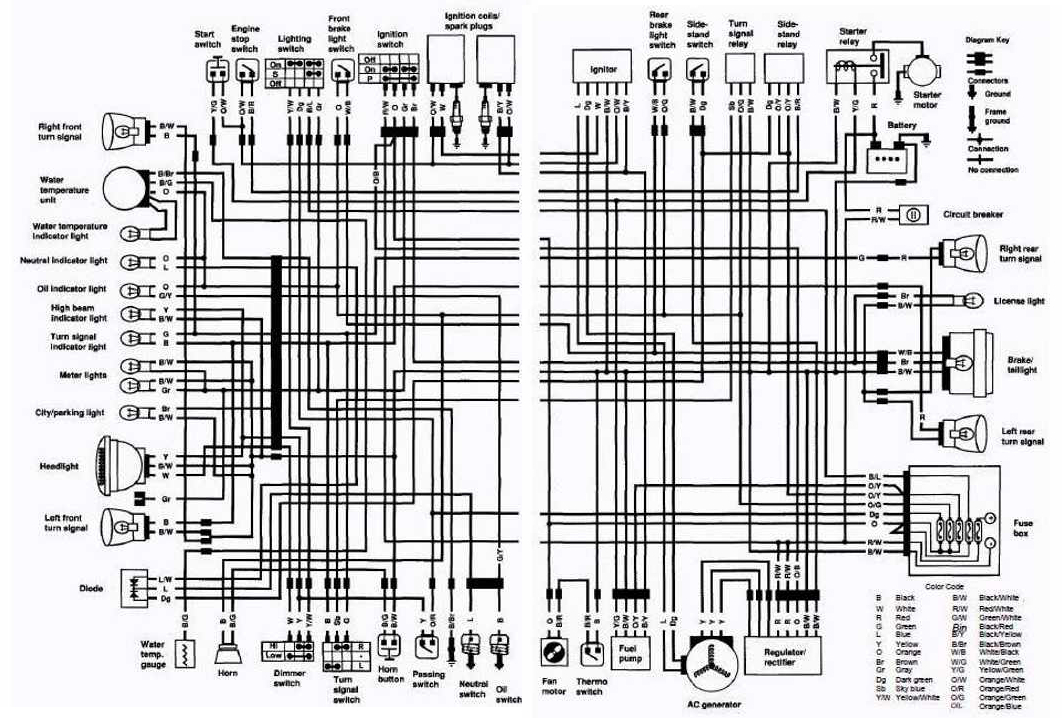 Motorcycle Brake Light Switch Wiring Diagram 1991 Honda Civic Suzuki Vs750 Intruder 1988-1991 Complete Electrical (uk) | All About ...