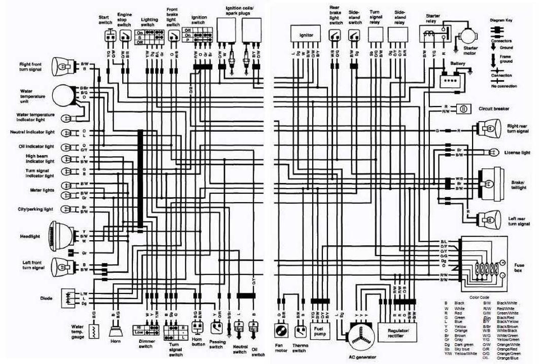 diagram on wiring suzuki vs750 intruder motorcycle 1988