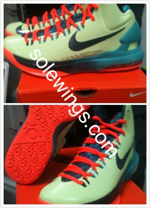 KD V all star arrive. Nike KD V  All-Star  Liquid Lime Obsidian-Sport  Turquoise-Total Crimson 583111-300 19047b2b06