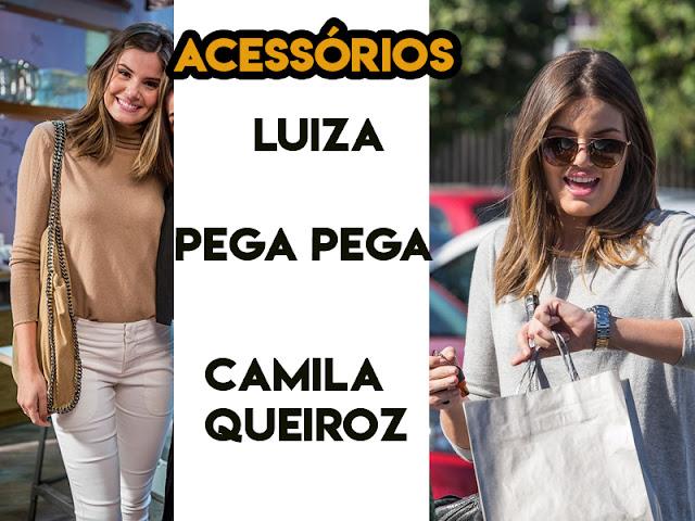 Acessórios da Camila Queiroz, a Luiza em Pega Pega