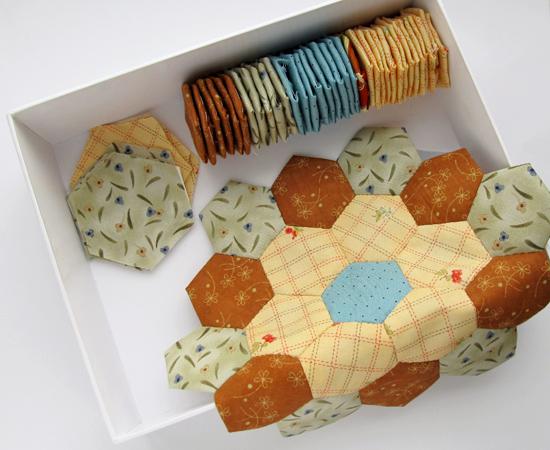 Hexagon process, лоскутное шитье