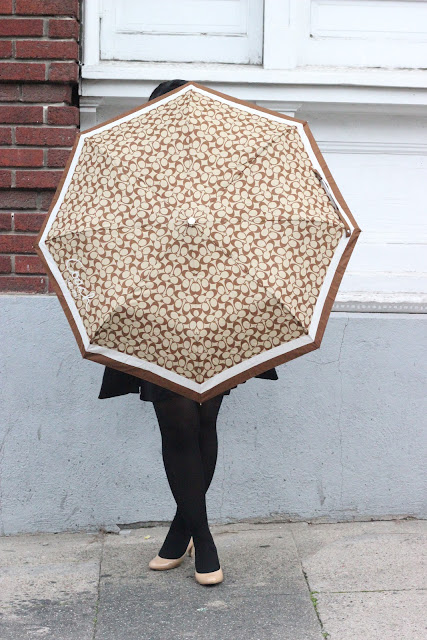 Coach Umbrella Rainy Day Style Inspiration