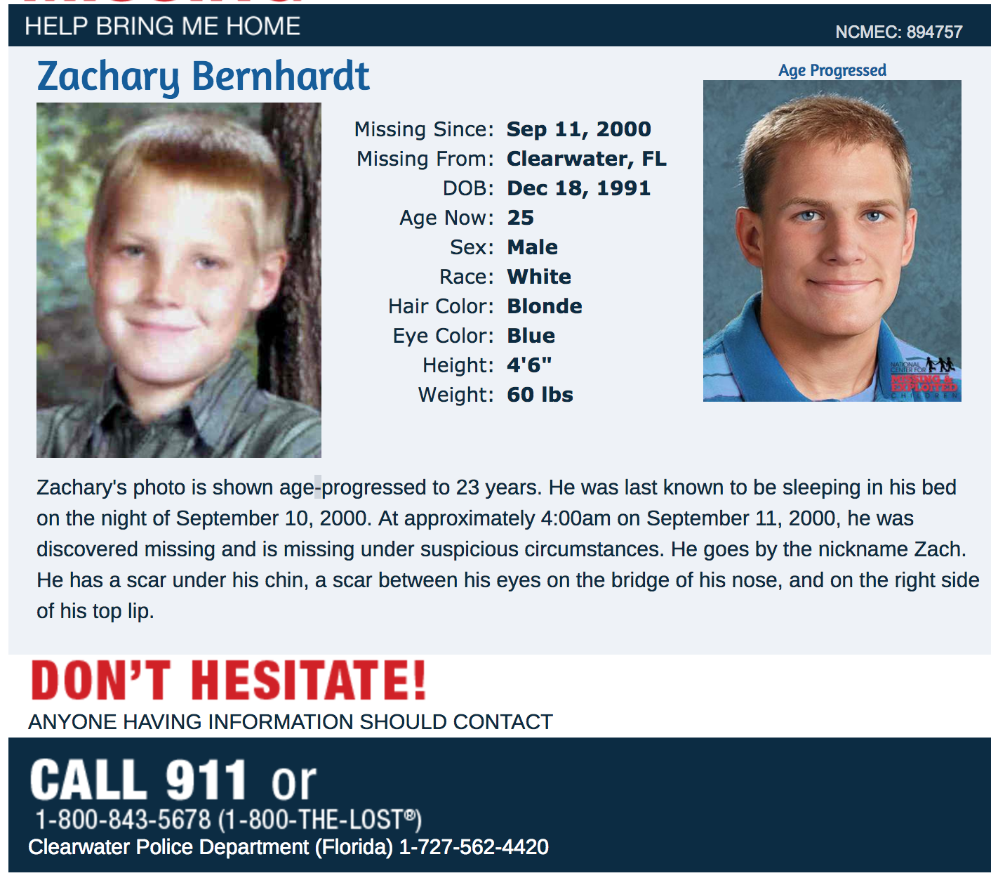 missing zachary bernhardt