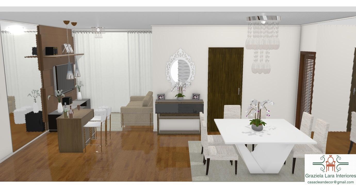 Sala E Cozinha Juntas Pequena Resimden Com