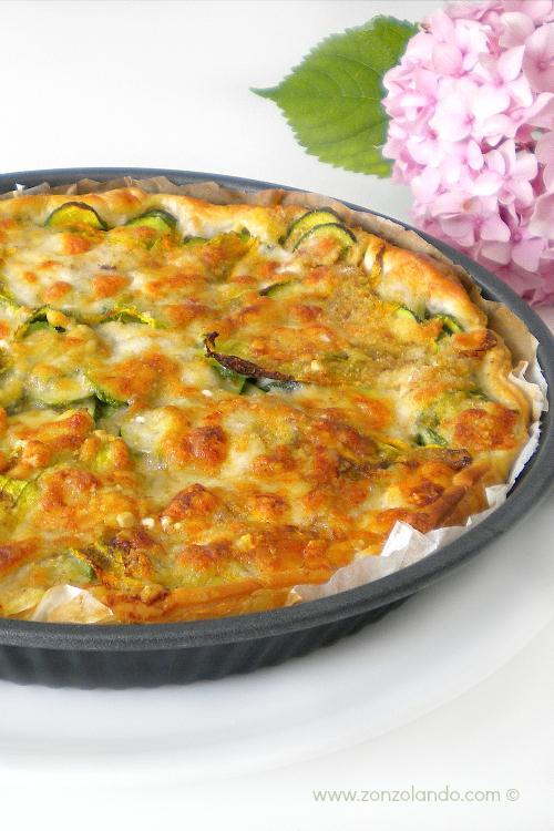 Torta di zucchine salata vegetariana ricetta secondi zucchini veggie tart recipe