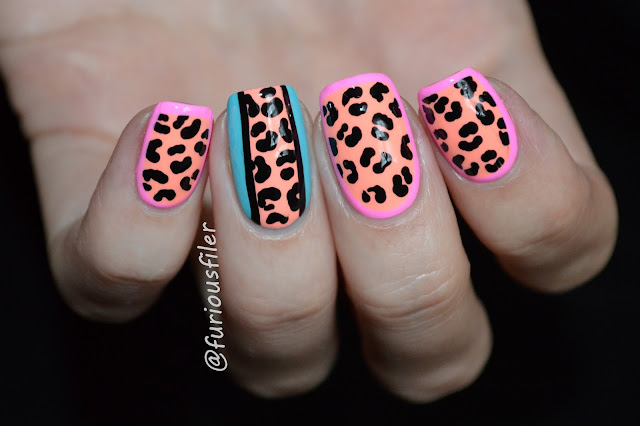 polish for tans, leopard print bright border