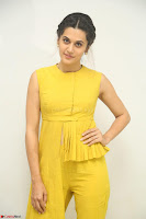 Taapsee Pannu looks mesmerizing in Yellow for her Telugu Movie Anando hma motion poster launch ~  Exclusive 108.JPG