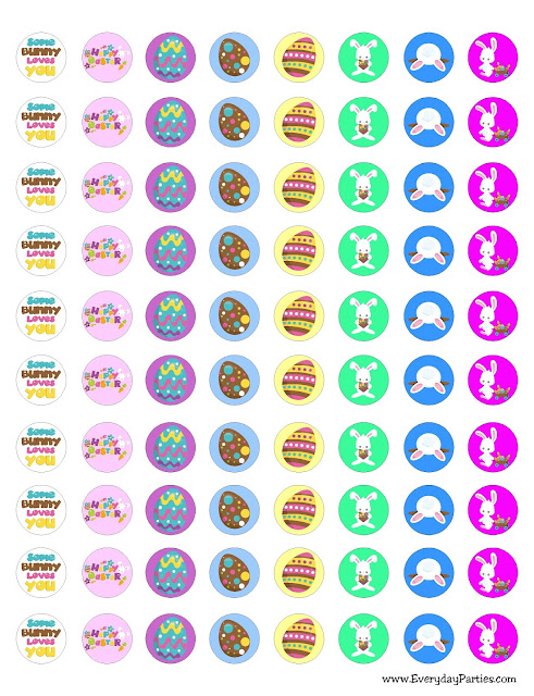 Free Easter Kiss Printable Labels by EverydayParties