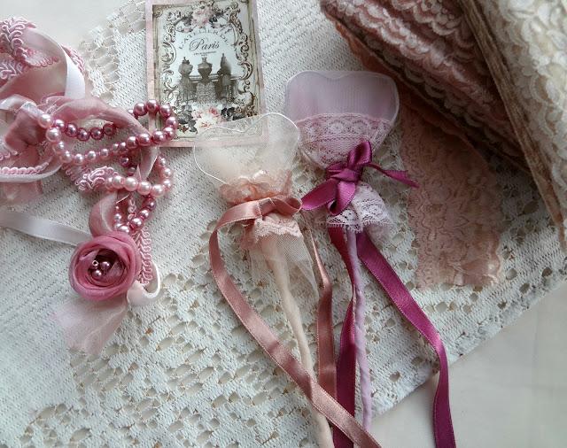 Valentine Shabby Chic Bookmarks DIY