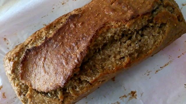 bizcocho integral plátano banana coco desayuno merienda postre tierno jugoso panque plumcake integral fácil horno sencillo