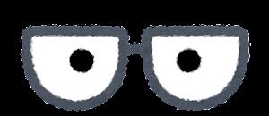 目の描かれた眼鏡のイラスト6