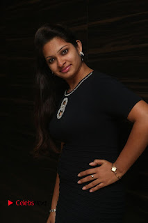 Actress Jyo Stills in Black Short Dress at Dwaraka Movie Audio Launch 0011