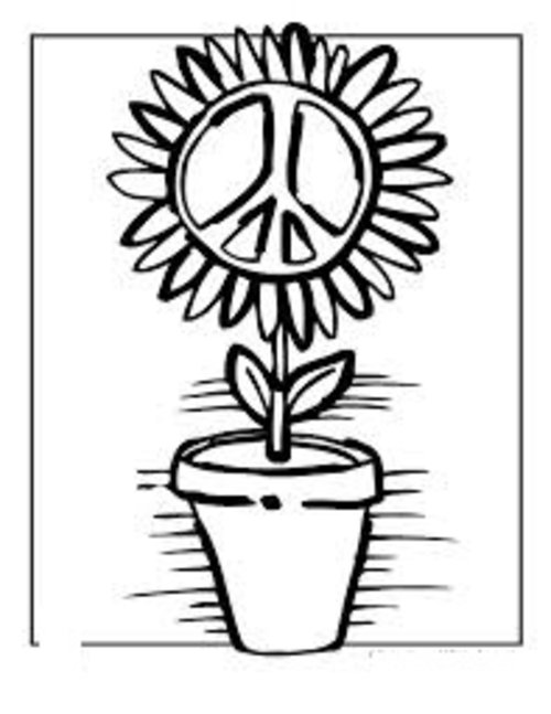 Small peace sign coloring pages ~ Free Printable Peace Sign Coloring Pages >> Disney ...