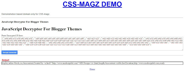 JS decrypter for blogger