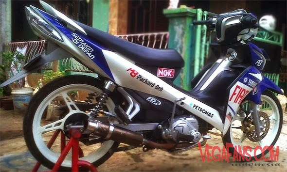 Modifikasi Jupiter Z New Biru Putih Modif GP Fiat Simple