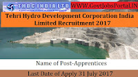 Tehri Hydro Development Corporation India Limited Recruitment – 52 Apprentices