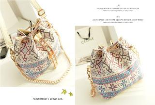 Tas Lucu Nan Cantik Model Ethnic Korea Terbaru Juli 2016