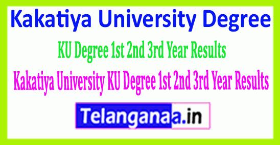 KU Degree 1st 2nd 3rd Year Results