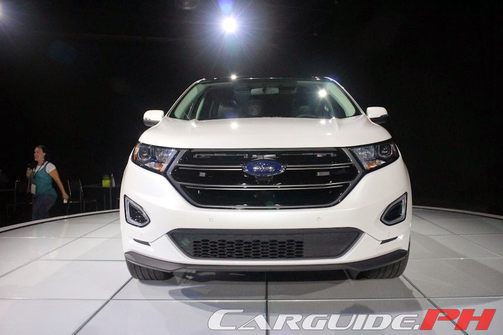 In Terms Of Design The Edge Is Now Squarely In Line With The Rest Of The Ford Line Up It Continues To Have A Hexagonal Grille An Edge Trademark