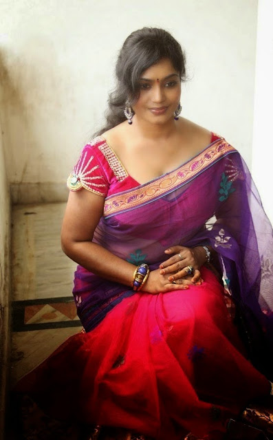 Jayavani hot Aunty Hot Photos In Saree
