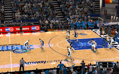 NBA 2K14 Orlando Magic HD Court Mod