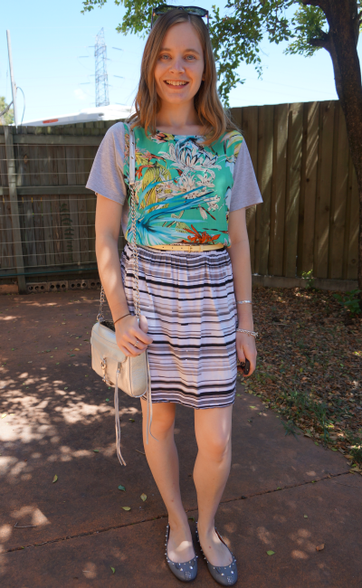Print Mixing Pattern Mixing Rewearing a Dress as a Top Florals and Stripes