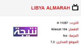 تردد قناة ليبيا المرح LIBYA ALMARAH الجديد 2018 على النايل سات