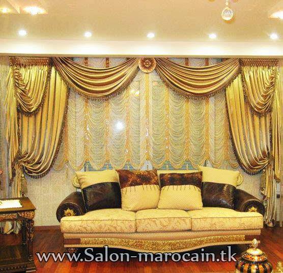 rideaux occultants royal avec un canap d coration salon marocain moderne 2016. Black Bedroom Furniture Sets. Home Design Ideas