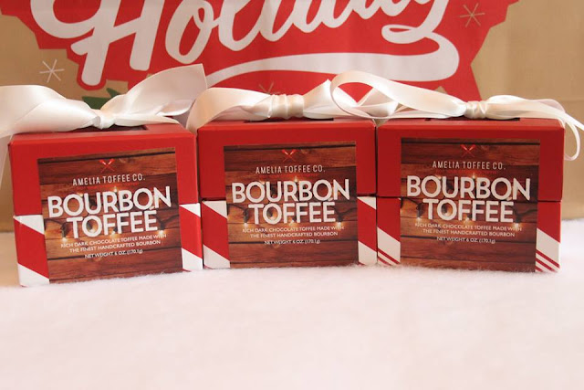 Bourbon flavored toffee impresses