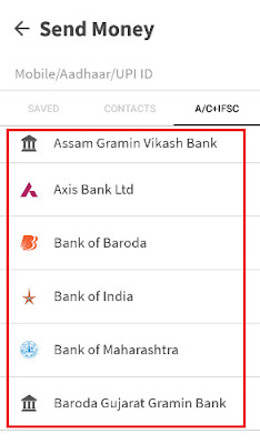 how to send money from bhim app to bank account