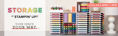 New Storage system for craft supplies by Stampin'UP!
