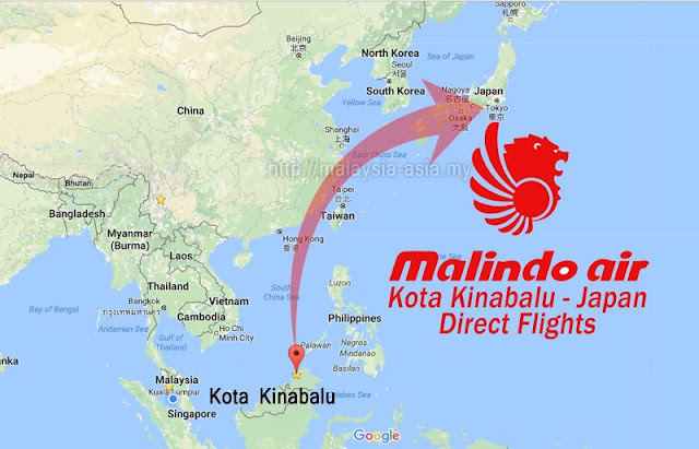 KK to Japan Flights Malindo Air