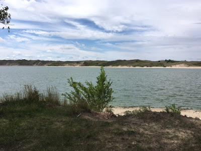view of Merritt Reservoir from Cedar Bay site