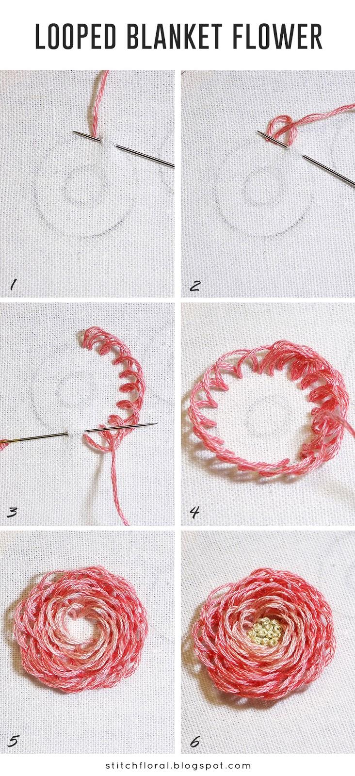 Looped blanket flower tutorial