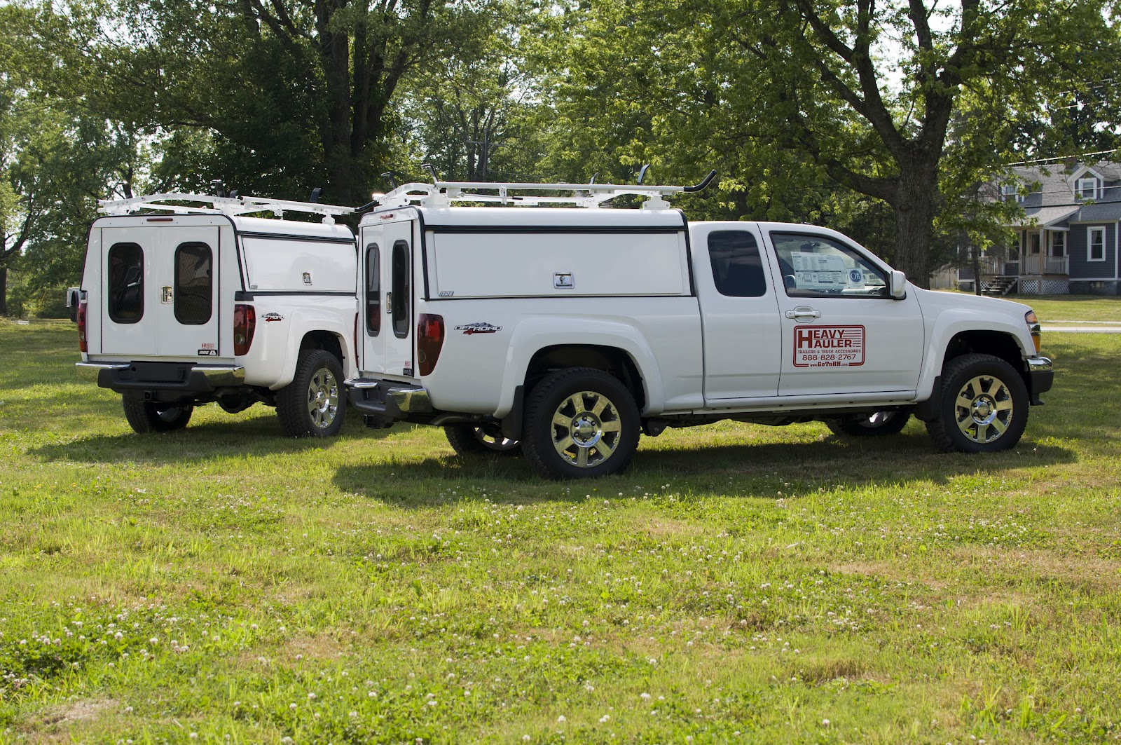 Two 2012 GMC Canyon Pickup Trucks with new ARE DCU Truck