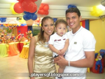 Thiago Silva and his girlfriend Isabele