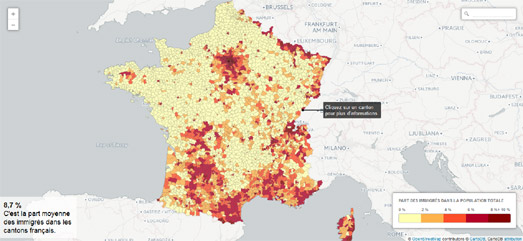 Maps mania mapping immigration in france le tlgramme has published a couple of interesting interactive maps looking at immigration in france immigration le centre bretagne contresens maps the gumiabroncs Choice Image