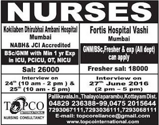nurses vacancies in mumbai
