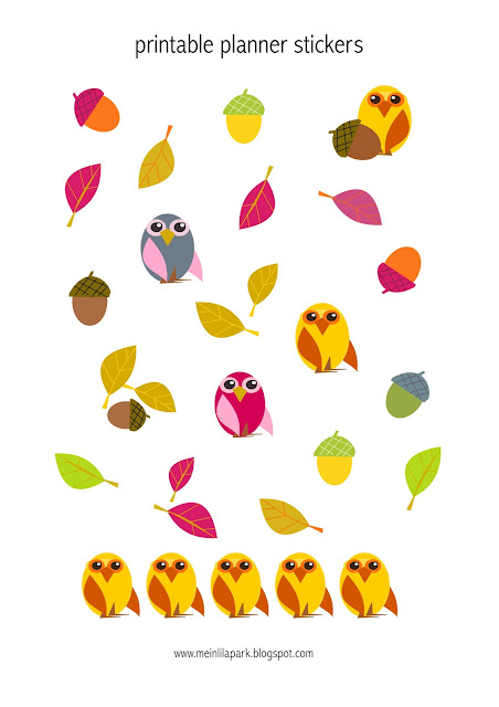 Free printable owl planner stickers - Agendasticker - freebie