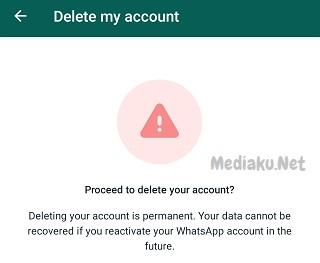 Menghapus Nomor Akun WhatsApp Sementara