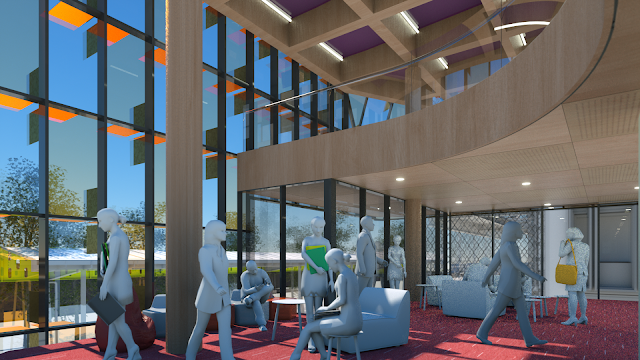 Architects image of new Library space